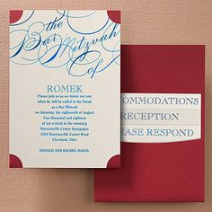 Unending Promise - Bar Mitzvah Pocket Invitation - Ticket For a day that promises to be inspirational, get started with this ticket-shaped, shimmer Bar Mitzvah invitation. Choose a pocket and ink or foil color to set the stage for style.