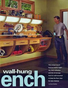 Wall Hung Workbench Plan - Workshop Solutions