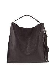 Alix Large Leather Hobo Bag, Black by TOM FORD at Bergdorf Goodman.