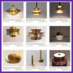Brass lamps in our etsy shop https://www.etsy.com/shop/Deerstedt