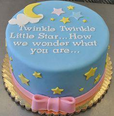 Twinkle twinkle little star....Gender reveal taart inspiratie www.SweetLittleThings.nl