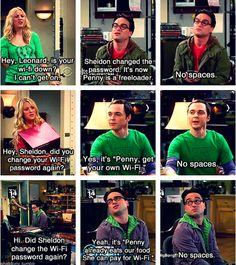 Sheldon changes the wifi