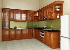 Tủ bếp gỗ Xoan Đào khung inox 304 giá bao nhiêu tiền