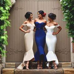 Off Shoulder Bridesmaid Dresses,Sweetheart Mermaid bridesmaid dress,Custom…