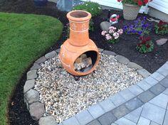 Nice DIY   Chiminea Fire Pit