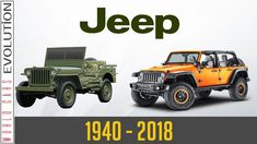W.C.E - Jeep Evolution  (1940 - 2018) Jeep, Monster Trucks, 1, Vehicles, Youtube, History, Classic, Guys, Derby