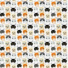 Cats fabric by dariara on Spoonflower - custom fabric