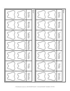Toothbrushing Chart - The Mailbox