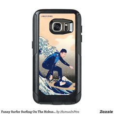 Funny Surfer Surfing On The Hokusai Great Wave OtterBox Samsung Galaxy S7 Case