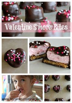 A yummy heart-shaped #treat for #valentines. www.SomewhatSimple.com #vday #smores