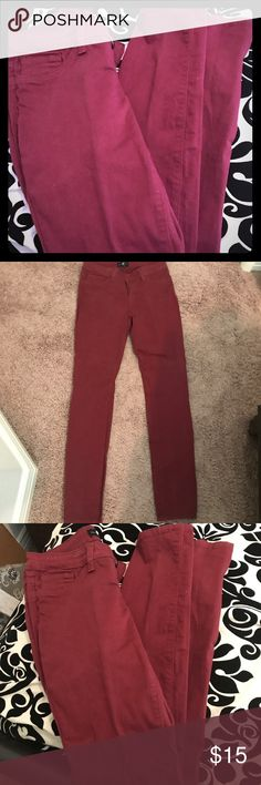 Cello red skinny jeans Cello red skinny/straight leg jeans. 97% cotton and 3% spandex. cello jeans Jeans Straight Leg