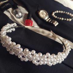 It's monday, let it be classy ❤️ #handmade #hairband #modesta #fashion #style #accessories #pearls #urbangirls #инстаграмџии #goodmorning