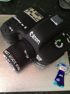 Canon 5D Mark III cake. How cool. I want this when I get my camera