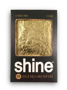 Luxury at your fingertips. Don't be at the party. Be the party. Handcrafted 24K gold rolling papers made with the finest edible gold. Made with a hemp blend base for the smoothest burn. Our best value product at $4.60 per roll.  Legal Disclaimer:shine® rolling papers and all other shine®products and materials, including all materials contained in this website, are protected by copyright, trademark, and other intellectual property laws, and may not be reproduced, republished…
