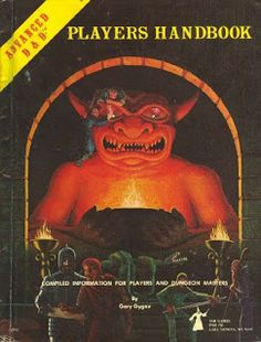 AD&D Players Handbook (D&D 1st Ed.) I had this, but sold it for needed funds about five years ago.