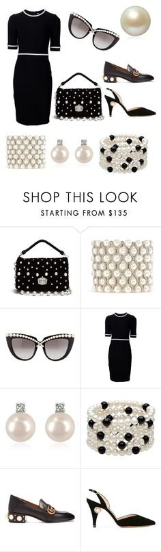 """Love for Pearls"" by ipekzsuel on Polyvore featuring Miu Miu, Kenneth Jay Lane, Anna-Karin Karlsson, Thierry Mugler, Forzieri, Gucci, Nicholas Kirkwood and Annoushka"