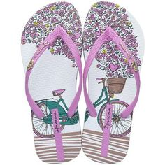 Designer Clothes, Shoes & Bags for Women Pink Sandals, Baby Sandals, Shoes Sandals, White Sandals, White Flip Flops, Flip Flop Shoes, Green Shoes, Pink Shoes, Ipanema Sandals