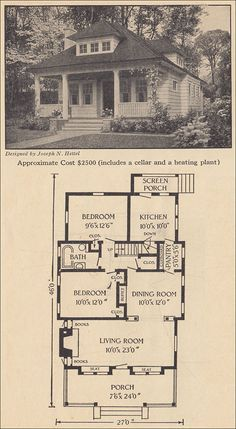 1916 Small Bungalow - PERFECT LITTLE HOUSE. Has an attic you could finish later for more space. Or you could add on.