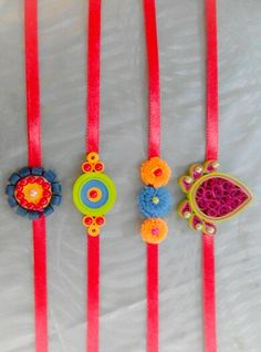 Handmade rakhi Paper Quilling Jewelry, Quilling Earrings, Quilling Art, Paper Jewelry, Hobbies And Crafts, Diy And Crafts, Crafts For Kids, Arts And Crafts, Paper Crafts
