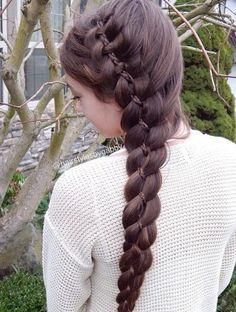 Four strand inside a French braid