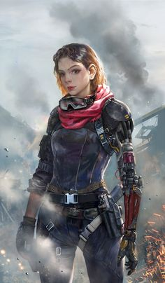 [By Zhang bo] cyborg … Android … Augmented … Female Character Design, Character Concept, Character Art, Concept Art, Dark Fantasy Art, Sci Fi Fantasy, Rpg Android, Star Wars Characters, Female Characters