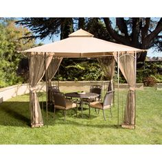 portable 10x10 gazebo canopy tent screened garden patio umbrella ... - 10x10 Patio Ideas