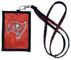 Tampa Bay Buccaneers Beaded Lanyard Wallet