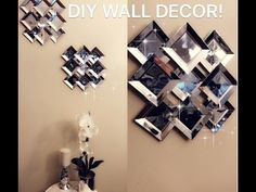 DIY Faux Mirror Wall Decor. Hey guys!! I wanted to share with you guys this easy and affordable wall mirror décor, very easy to make and very glam I hope you guys enjoy! please subscribe to get more videos like this and thumbs up if you enjoyed! Thank