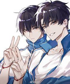 Danmei Cre @禽园长 Anime Boys, Oc Manga, Anime Siblings, Evil Anime, Cool Anime Guys, Chica Anime Manga, Cute Anime Boy, Handsome Anime Guys, Manga Art