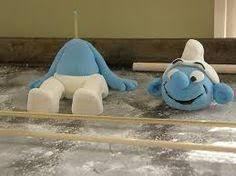 Image result for how to make a fondant smurf cake topper