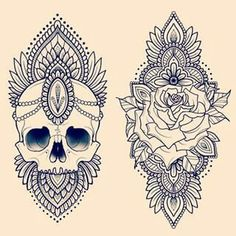One on each back of my arm. Symbolize life and death.