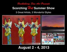 Hey, if you haven't heard, we're having a summer show! Come check it out the weekend of August we'd love to see you! August 2nd, Huckleberry, Great Artists, Presents, Age, Fine Art, Baseball Cards, Check, Summer