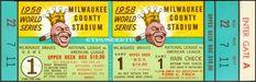 5 1958 WORLD SERIES UNUSED FULL TICKETS MILWAUKEE BRAVES vs NY YANKEES nice New York Yankees Tickets, Braves Game, Football Ticket, Ny Yankees, Baseball Tickets, World Series Tickets, Nfl Championships