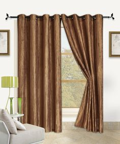 Look at this Antique Gold Sherry Curtain Panel - Set of Two on #zulily today!