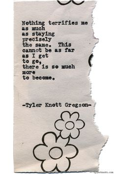 Typewriter Series #1401 by Tyler Knott GregsonCome say hello @TylerKnott on Instagram, Facebook, and Twitter!
