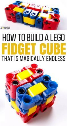 Magically Endless DIY Lego Fidget Cube for Kids That Can't Sit Still via @lemonlimeadv