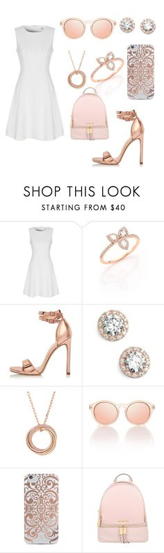 """""""Rose Golds, Pinks and Whites"""" by tiffany-blue-tardis ❤ liked on Polyvore featuring True Decadence, Meira T, River Island, Nordstrom, Cartier, Nanette Lepore and Michael Kors"""