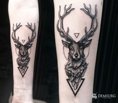 Resultado de imagem para deer tattoo