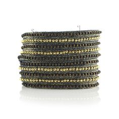 Beads Row Wrap Midnight Shimmer Bracelet, Leather Wrap Bracelet, Presh Bracelet Midnight Shimmer Wrap Bracelet, Leather Cuff Suede Bracelet #bohochic #leatherjewelry