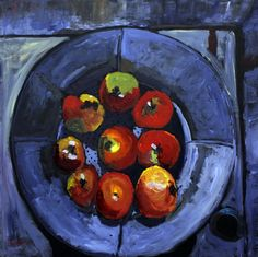 Shaker Apples - 24 x 24 Golden Acrylics on canvas, $850 Painted by Scott Taylor