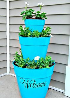 Tiered Front Door Flower Pot Welcome Decoration