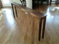 Thin long bar table