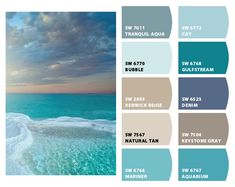 ColorSnap by Sherwin-Williams – ColorSnap by Beach House Colors, Coastal Paint Colors, Paint Colors For Home, Beach House Decor, Beach Bedroom Colors, Beachy Colors, Colorful Decor, Colorful Interiors, Beach Color Palettes