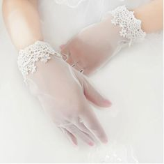 primavera figuras cintura branco marfim nupcial luvas com laço bordas pura longo acessórios do