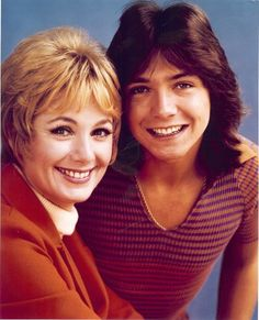 Shirley Jone  & David Cassidy. Shirley was once David's real-life step mom, as well as his onscreen mom in The Partridge Family.