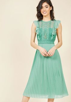 Ruffled in Florence Midi Dress in Buttermint in 1X - Sleeveless Maxi by ModCloth - Plus Sizes Available