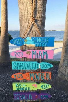 Personalized Directional Signs are a great way to hold on to the memories of some of your favorite places. Patio Signs, Pool Signs, Beach Signs, Garden Signs, Cinque Terre, Montreal, Tiki Bar Signs, Housewarming Decorations, Artwork Lighting