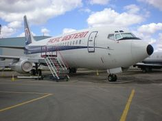 Pacific Western B737 200 at the Alberta Aviation Museum Photo by CambridgeBayWeather Canadian Airlines, Boeing Aircraft, Commercial Aircraft, Vintage Travel, Westerns, Aviation, Jets, Air Lines, Aeroplanes