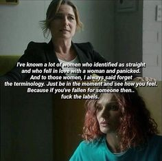 """This scene ❤️❤️😍😍 Bridget and Bea. """"Fuck the labels"""""""