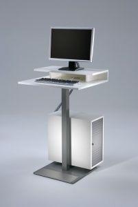 Flatline PC-compartiment, wit gelakt